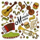 Fond de fête coloré du Mexique de mariachi Photographie stock