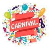 Fond de fête de célébration avec des icônes de carnaval