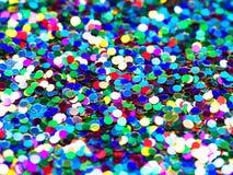 Fond de fête de confettis de clinquant photos stock