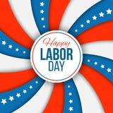 Fond de Fête du travail Dirigez l'illustration avec la bannière étoilée pour des vacances nationales américaines Photo stock