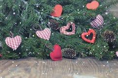 Fond de fête et carte de voeux décorée pour la célébration de Noël et de la nouvelle année Image stock