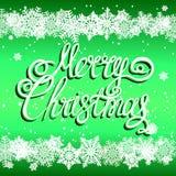 Fond de fête de Joyeux Noël avec des flocons de neige illustration libre de droits