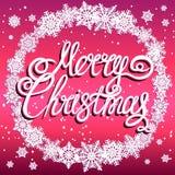 Fond de fête de Joyeux Noël avec des flocons de neige illustration de vecteur