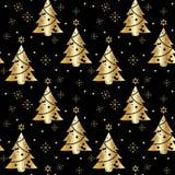 Fond de fête Modèle sans couture dans la couleur d'or sur un fond foncé illustration stock