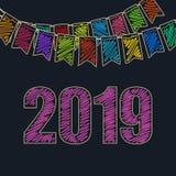 Fond de fête 2019 de nouvelle année Image libre de droits
