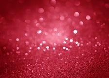 Fond de fête rouge de bokeh d'abrégé sur Noël Photographie stock
