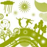 Fond de fantaisie vert Images libres de droits