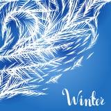 Fond de fenêtre congelé par hiver illustration de vecteur