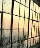 Fond de fenêtre d'entrepôt Photos stock