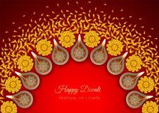 Fond de festival de Diwali illustration de vecteur