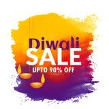 Fond de festival de diwali d'aquarelle avec le diya accrochant Photographie stock