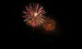 Fond de feu d'artifice coloré par résumé avec l'espace libre Photo libre de droits