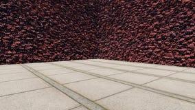 Fond de feuillage, rendu 3d illustration de vecteur