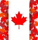 Fond de feuille d'érable pour le jour national du Canada illustration de vecteur