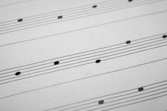 Fond de feuille de musique Photo libre de droits