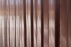 Fond de feuille de profil en métal de couleur de chocolat Photo libre de droits
