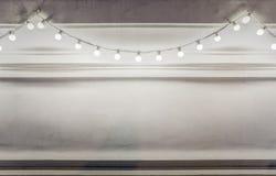 Fond de ficelle d'ampoules illustration stock