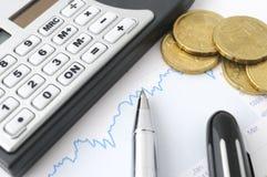 Fond de finances Photos libres de droits