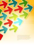 Fond de flèche d'Elegent. Illustration de vecteur Images stock