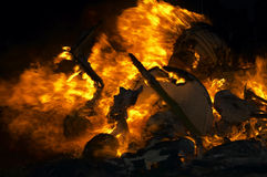 Fond de flamme Images stock