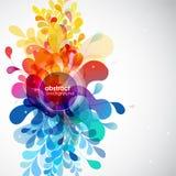 Fond de fleur coloré par résumé Image stock