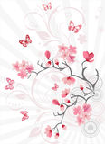 Fond de fleur de cerise illustration stock