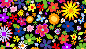 Fond de fleur de source illustration stock