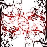 Fond de fleur et de vignes illustration stock