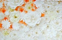 Fond de fleur papier-se pliante Image stock