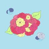 Fond de fleur, roses, papiers peints Images libres de droits