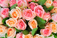 Fond de fleurs artificielles Photos stock