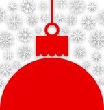 Fond de flocon de neige avec la boule de papier de Noël illustration libre de droits