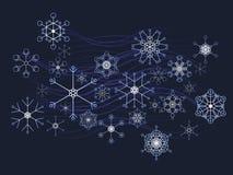 Fond de flocon de neige de l'hiver Image libre de droits