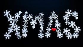 Fond de flocon de neige de neige de Noël Photographie stock