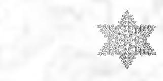 Fond de flocon de neige de Noël d'hiver Photos stock