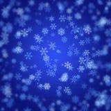 Fond de flocons de neige brouillé par abstrait Image stock