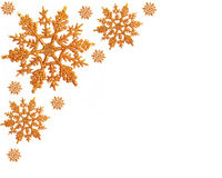 Fond de flocons de neige d'or Images libres de droits