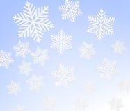 Fond de flocons de neige de l'hiver Vecteur illustration stock