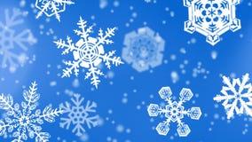 Fond de flocons de neige de Noël illustration libre de droits