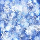 Fond de flocons de neige de vecteur Photo stock