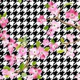 Fond de floraison de modèle de fleurs de ressort Copie sans couture de mode illustration libre de droits
