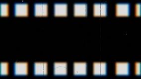Fond de fonte de bande de film de bouclage de cru Bande vidéo avec des éraflures illustration stock