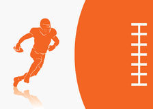 Fond de football américain Image libre de droits