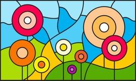 Fond de forêt ou de jardin Illustration Stock