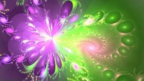 Fond de fractale avec le modèle lumineux abstrait Boucle détaillée élevée clips vidéos