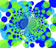 Fond de fractale - formes colorées rondes 2 Photographie stock