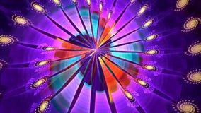Fond de fractale Quelque chose aiment les plumes colorées des oiseaux Boucle détaillée élevée banque de vidéos