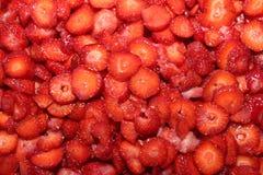 Fond de fraise Photographie stock libre de droits