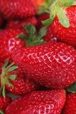 Fond de fraise Fraises comme texture de modèle Fraises fraîches douces rouges comme texture Modèle de fraise As Photographie stock