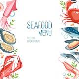Fond de fruits de mer illustration de vecteur